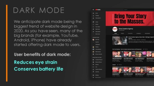 Website Design Dark Mode Theory